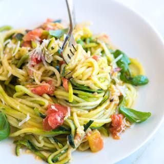 Guilt-Free Garlic Parmesan Zucchini Pasta