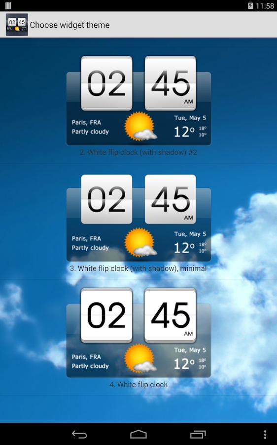 sense flip clock  u0026 weather pro