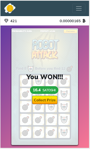 Free Bitcoin Scratch Tickets screenshot 2