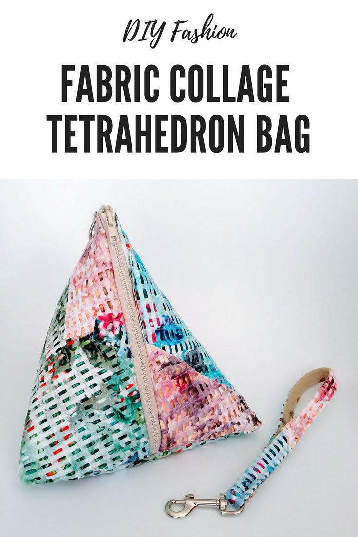 DIY Fabric Collage Tetrahedron Bag - DIY Fashion Accessories | fafafoom.com