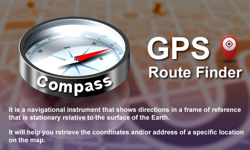 GPS Route Finder- screenshot