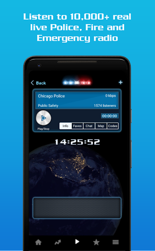 Police Radio Scanner - Hot Pursuit Police Scanner screenshot 1