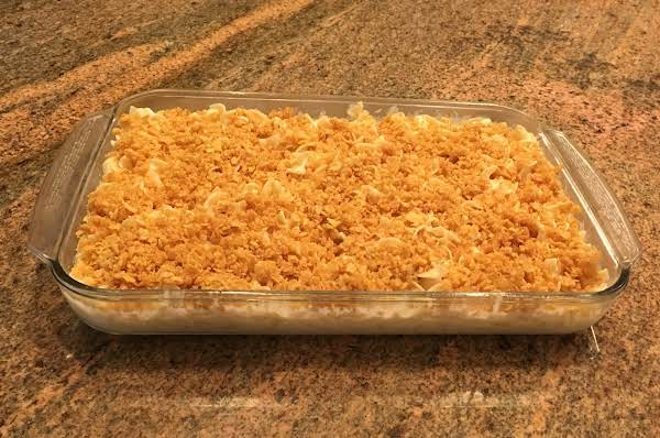 Crispy Topping With Sweet Creamy Cheese Noodle Pudding