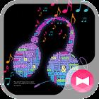 Neon music ネオン壁紙きせかえ icon
