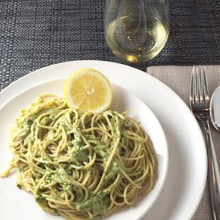 Spaghetti with Ramp Pesto