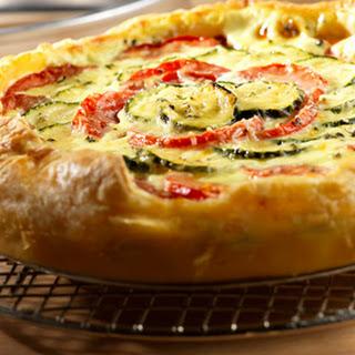 Zucchini, Tomato & Mozzarella Tart.