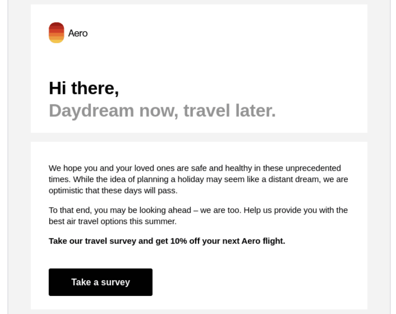 Digital Customer Experience: Email Survey Example