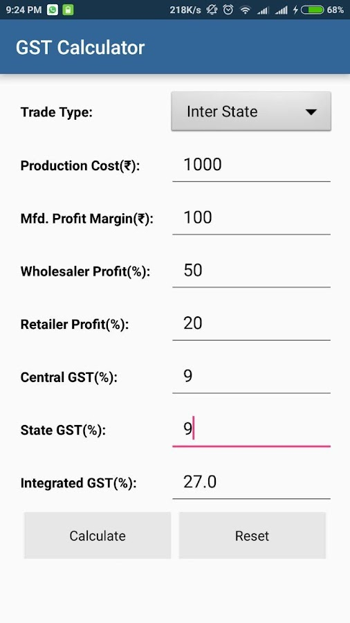 GST Calculator India- screenshot