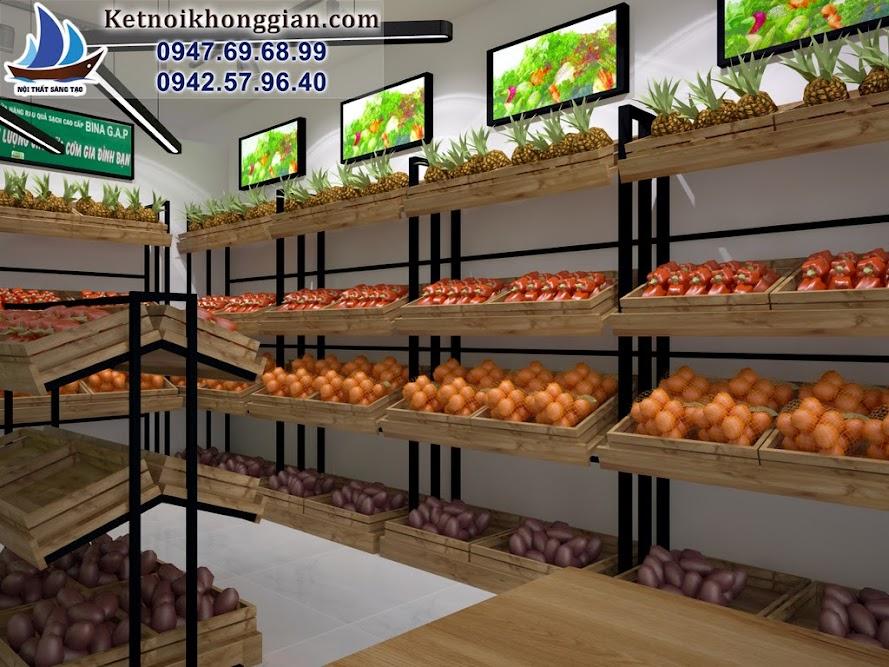 cửa hàng được thiết kế theo phong cách đồng quê