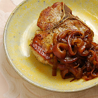 Pork Chops with Sweet Curried Onion.
