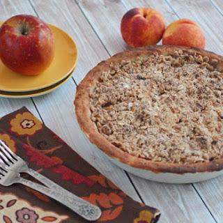 Gluten Free Oatmeal Crumb Apple Peach Pie.