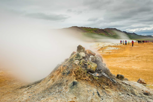 Lindblad-Expeditions-Iceland-Frafla-Volcano.jpg - Go on a scenic hike and view the frafla Volcano and Lake Mývatn during a Lindblad Expeditions adventure of Iceland.