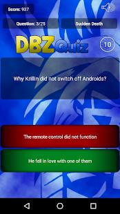 Trivia for Dragon Ball Z - náhled