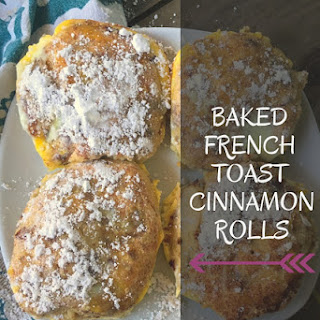 Baked French Toast Cinnamon Rolls