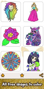 Glitter Color: Adult Coloring Book By Number Pages Screenshot