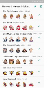 Movie and Comics Stickers - WAStickerApps Screenshot