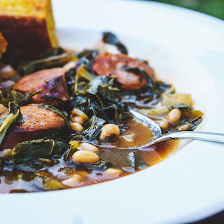 Collard Greens & Chorizo Soup with Black Eyed Peas