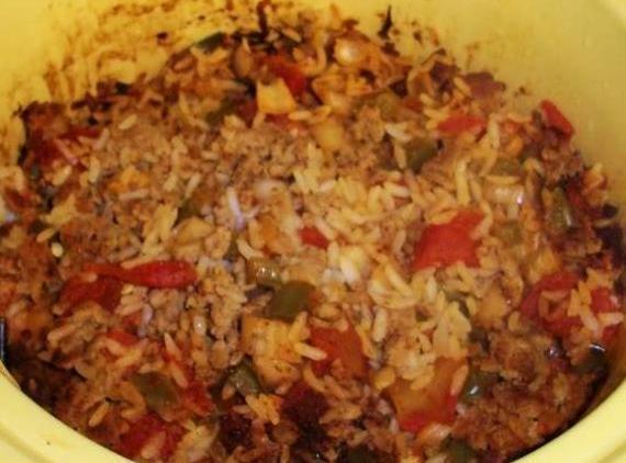 Ground Beef And Spanish Rice Hash Recipe