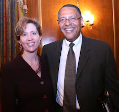 Photo: BBA President-Elect Julia Huston and Chief Justice Roderick Ireland.