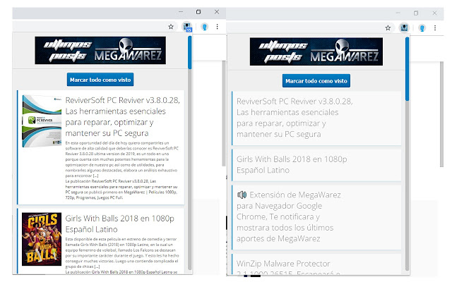 Extensión para Seguidores Fieles de MegaWarez