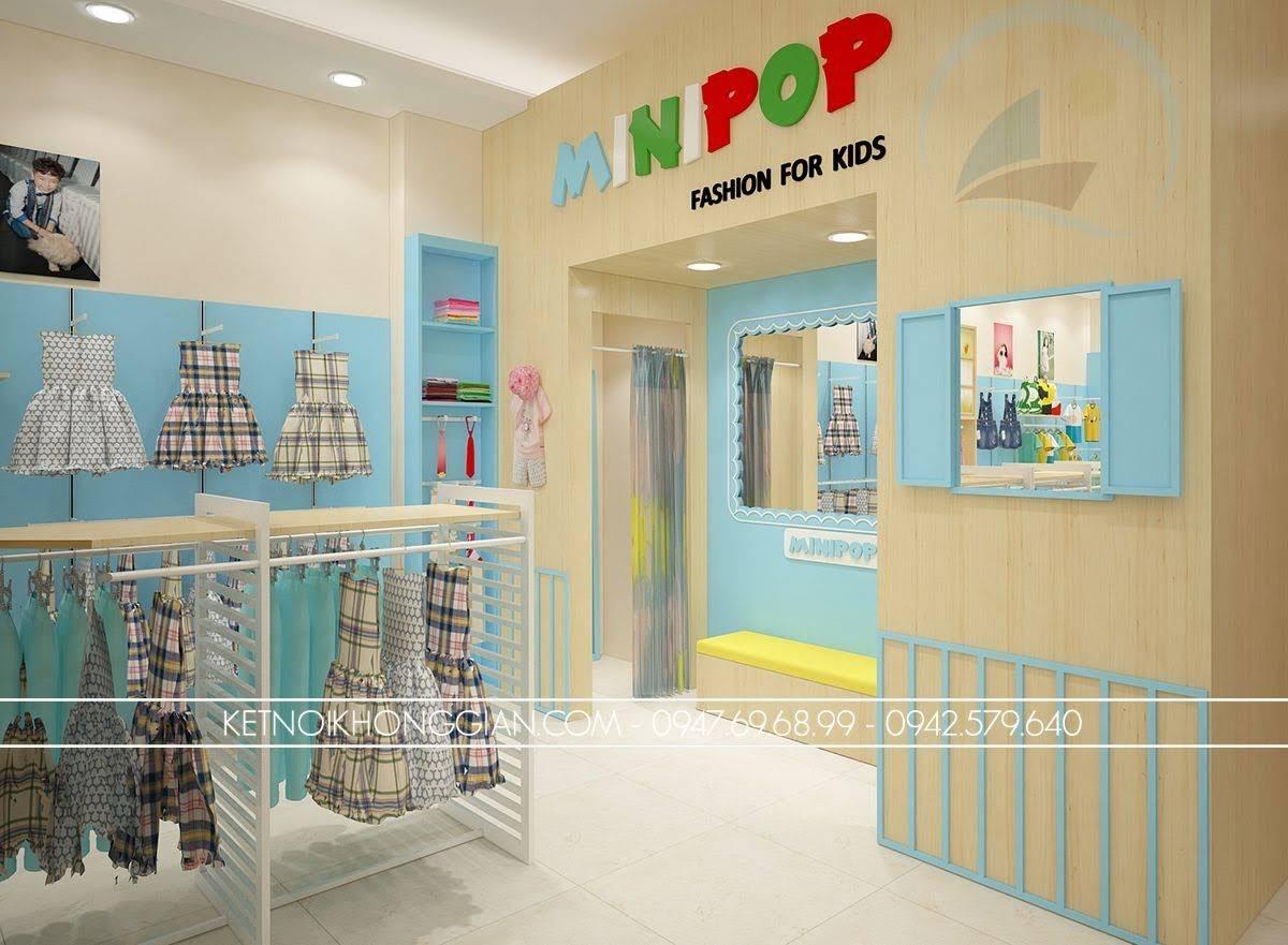 thiết kế cửa hàng thời trang trẻ em đẹp nhất