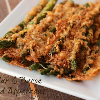 Cheddar Bacon Roasted Asparagus with Kraft Fresh Take