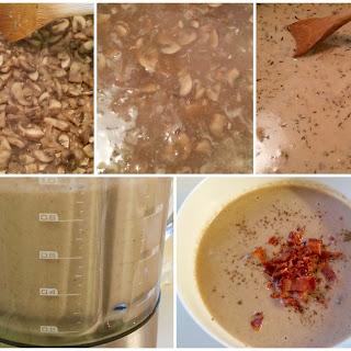 Lightened Cream of Portobello Mushroom Soup.