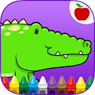 Reptiles Kids Coloring Game icon