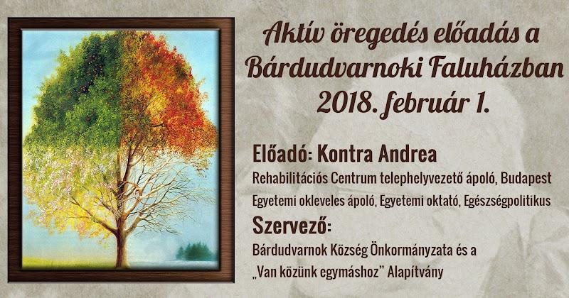 Aktív öregedés előadás a Bárdudvarnoki Faluházban 2018. február 1.