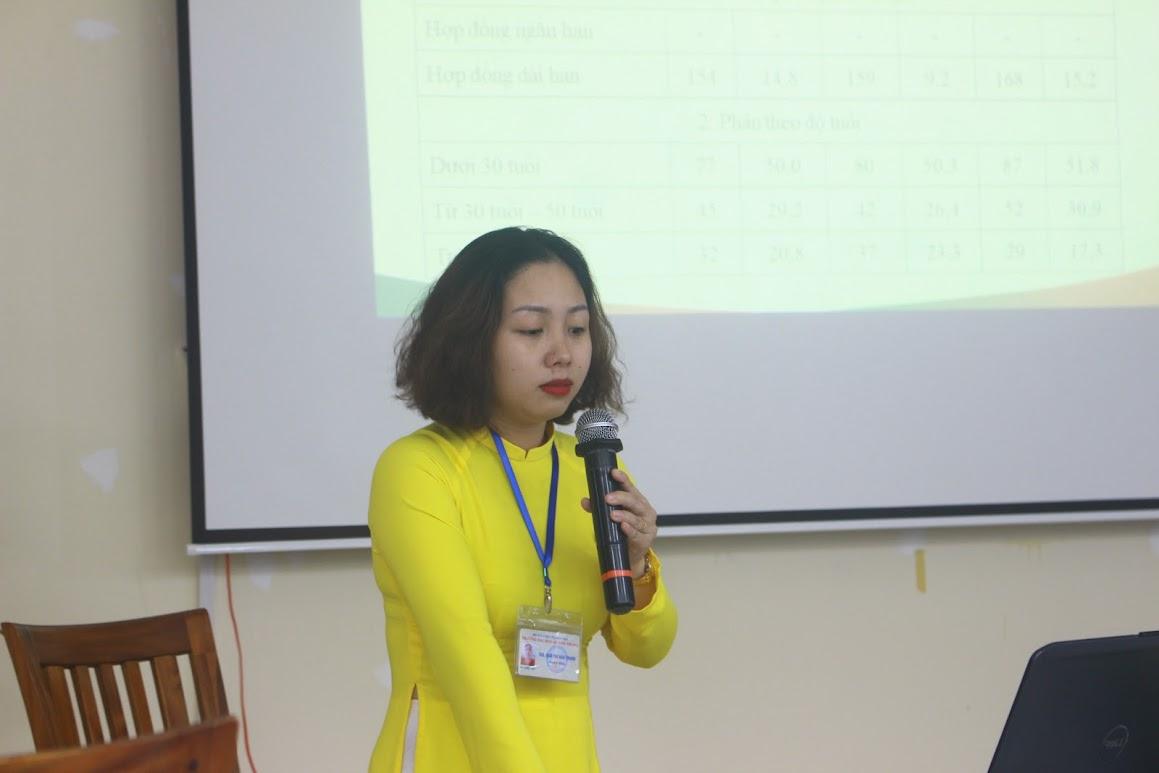 ThS. Ngô Thị Bảo Trang trình bày báo cáo
