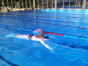 Photo: Das Training im Hallenbad Luzern