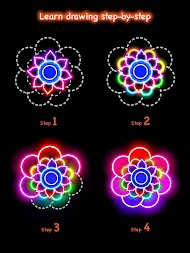 Learn To Draw Glow Flower APK screenshot thumbnail 19