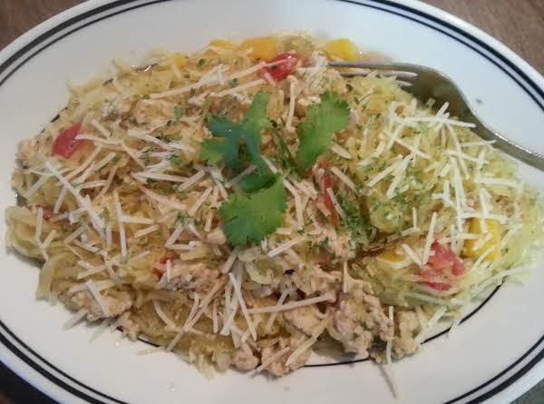 Spaghetti Squash With Ground Chicken