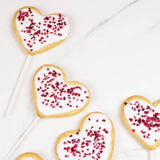Vegan Valentines Day Cookie Pops (Gluten-free Option).