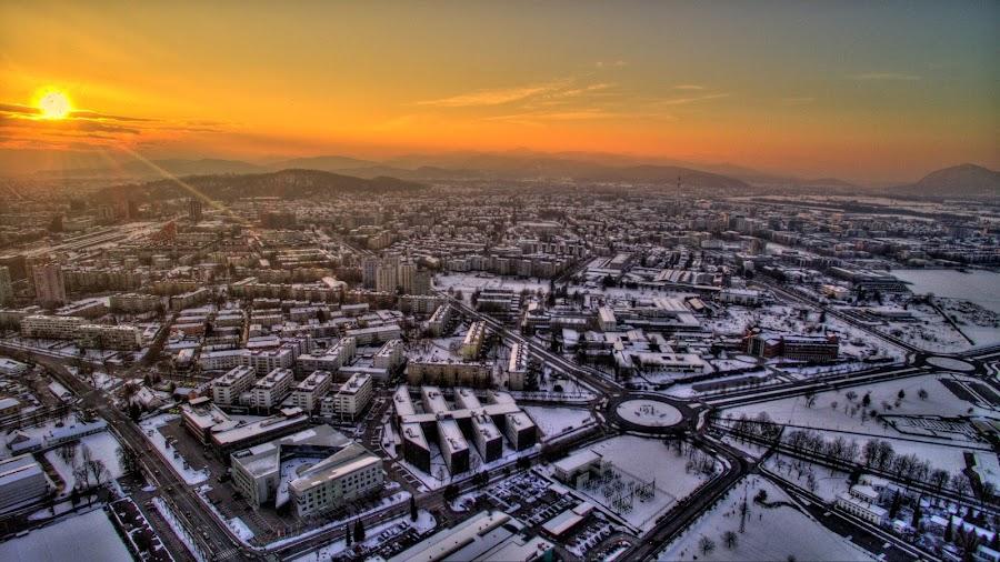Mestna občina Ljubljana iz druge strani by Ergo Zjeci - City,  Street & Park  Neighborhoods