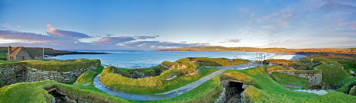 The neolithic village of Skara Brae in western Scotland.