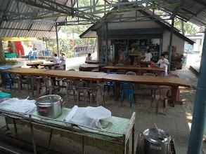 Photo: Where we have meals. 6:30 Breakfast. 10:30 Lunch. 5pm Soymilk (in big pot on right). All other times, MEDITATE.