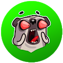 Doug the Angry Pug Sticker for WAStickers icon