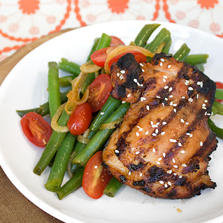 Grilled Miso Glazed Chicken Thighs