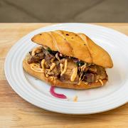 Habanero Glazed Pork Belly Sandwich