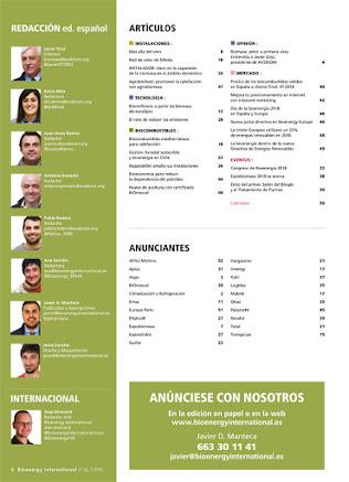 Sumario de Bioenergy International castellano BIE42