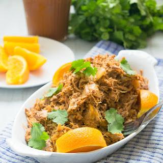 Paleo Slow Cooker Orange BBQ Pulled Pork