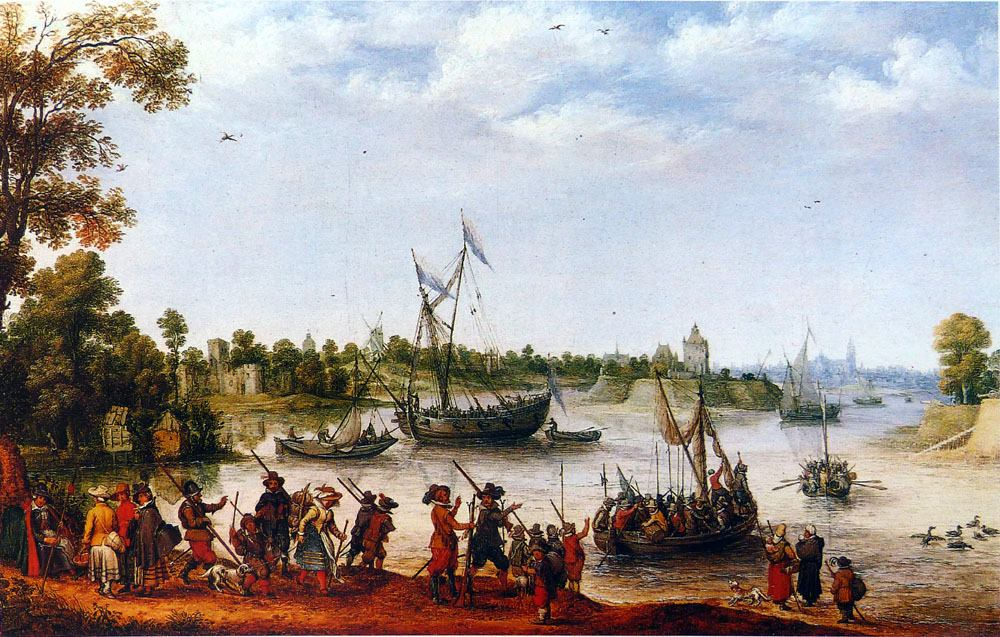 The Departure of the Pilgrim Fathers from Delfshaven on their Way to America on July 22, 1620