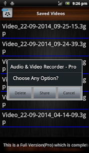 Audio and Video Recorder Lite App Download For Android 9