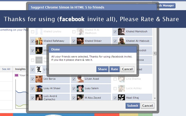 Invite All Friends on Facebook - Chrome Web Store