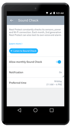 nest app sound check