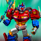 Transformer Robot Fighting 3D icon