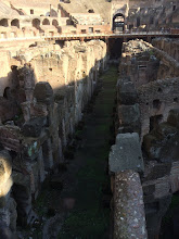 Photo: The tunnels below what used to be the floor of the colosseum