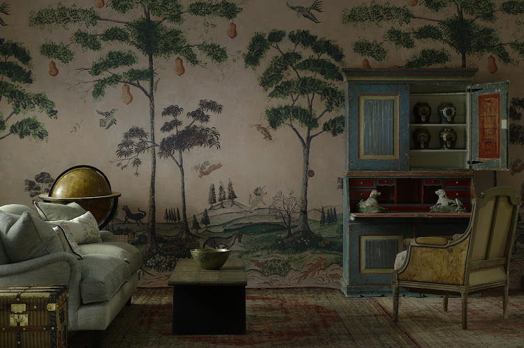 Mythical Land wallpaper from Andrew Martin and Kit Kemp.