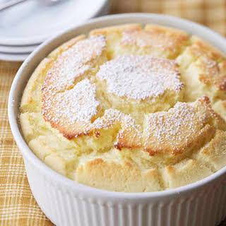 Lemon Souffle Dessert.